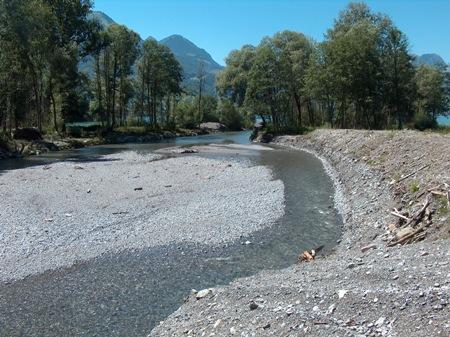 Mündung der Melchaa in den Sarner See