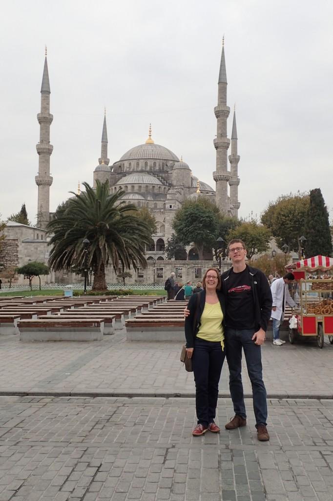 Vor der Blauen Moschee 2015